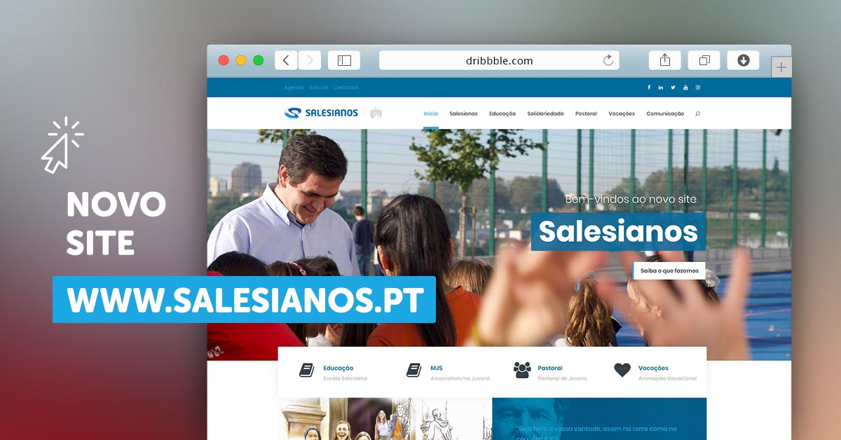 Novo site dos Salesianos de Portugal