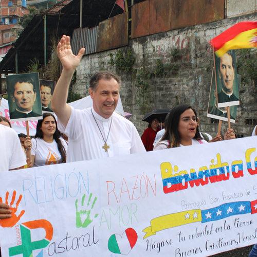 Pe. Ángel Fernández Artime em visita à Venezuela em fevereiro de 2020